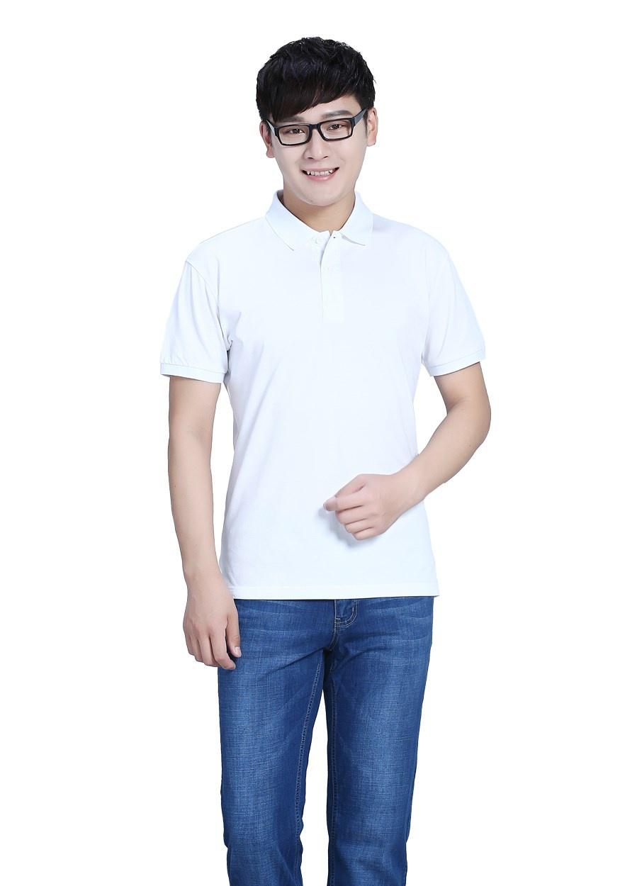 白色反面雙紗POLO衫T恤