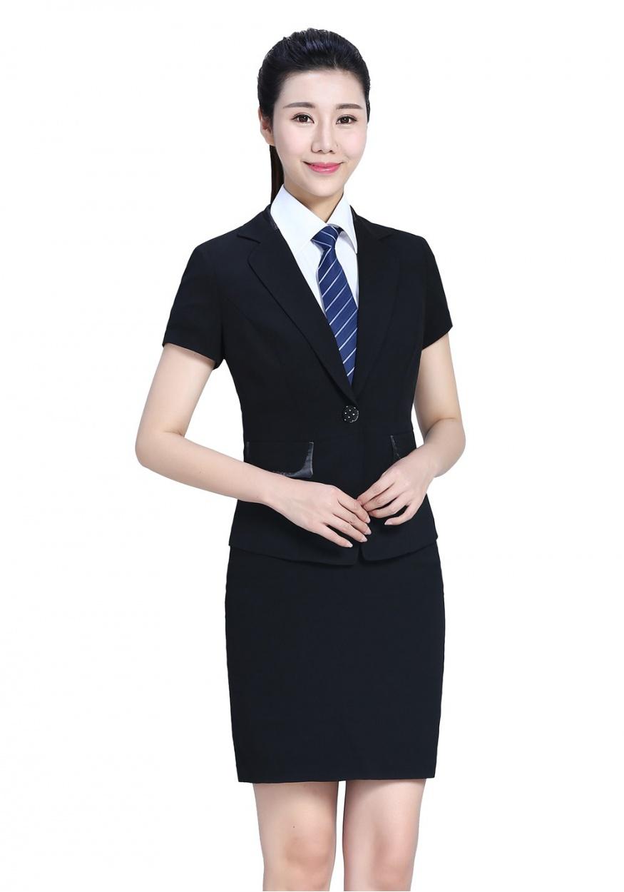 半袖黑色女士套裝FX05